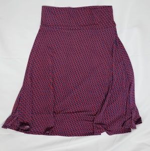 LuLaRoe Skirts - XL Lularoe red and blue design Azure Skirt